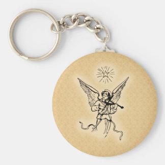 Golden Christmas Angel Keychain