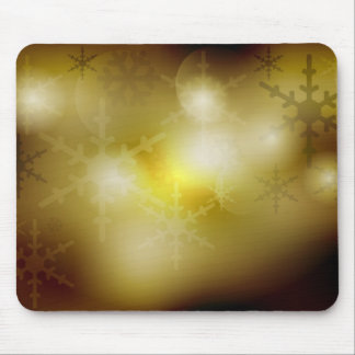 Golden Christmas Background Mouse Pad