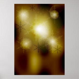 Golden Christmas Background Poster