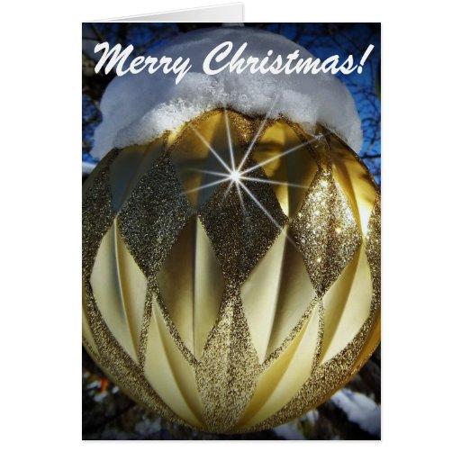 Golden Christmas Ball Card