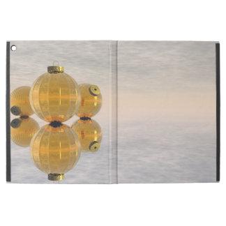Golden Christmas balls - 3D render iPad Pro Case