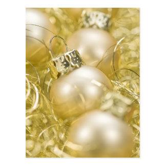 Golden Christmas Balls Postcard