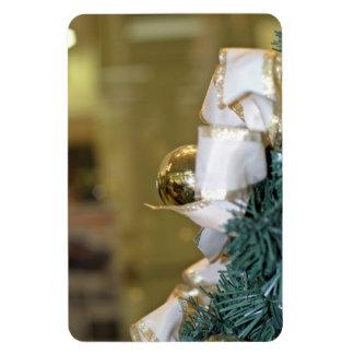 Golden christmas bauble flexible magnet