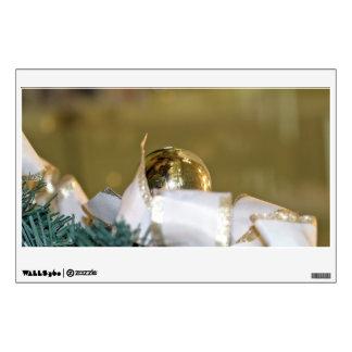Golden christmas bauble room graphics