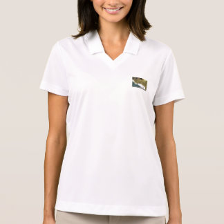 Golden Christmas Bauble With White Ribbon Polo T-shirt