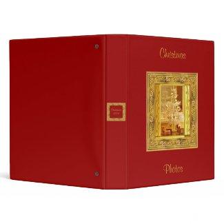 Golden Christmas Binder binder
