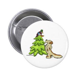 Golden_Christmas Pinback Button