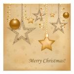 Golden Christmas Custom Invites