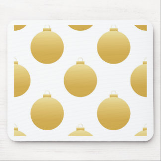 Golden Christmas decorations Mouse Pad