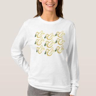 Golden Christmas doves T-Shirt