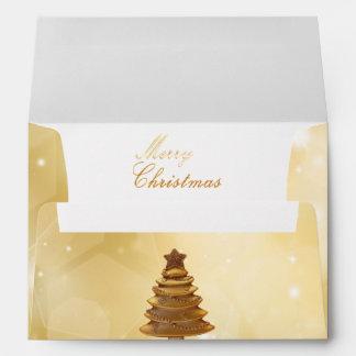Golden Christmas - Envelope A7