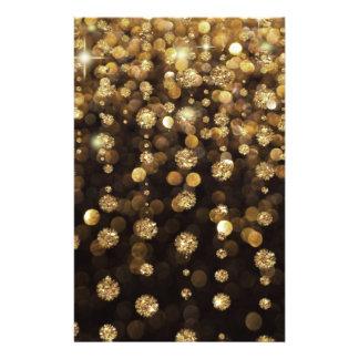 """Golden Christmas Glitter Sparkles 5.5"""" X 8.5"""" Flyer"""