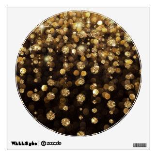 Golden Christmas Glitter Sparkles Wall Decal