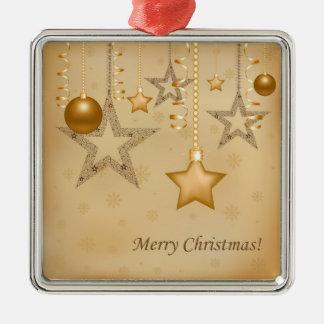 Golden Christmas Metal Ornament
