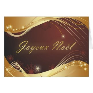 Golden Christmas motive with red background