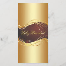 Golden Christmas motive with red background... Holiday Card