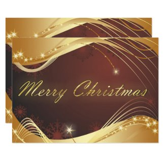 Golden Christmas motive with red background Invitation