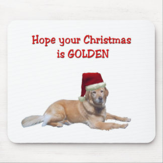 Golden Christmas Mouse Pad