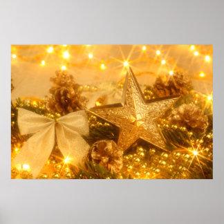 """""""Golden Christmas"""" Poster"""