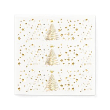 Christmas Themed Golden Christmas Set - Cocktail Paper Napkins