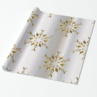 Golden Christmas Stars Wrapping Paper