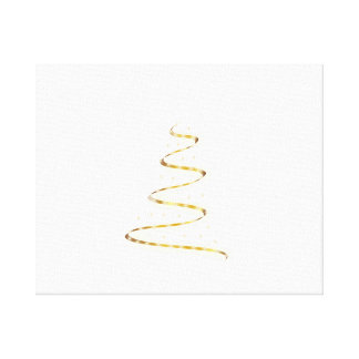 Golden Christmas Tree Stretched Canvas Print