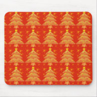 golden Christmas tree, holiday Mouse Pads