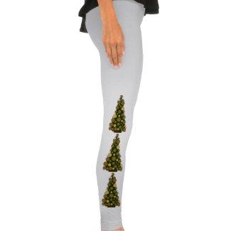 Golden Christmas Tree Leggings