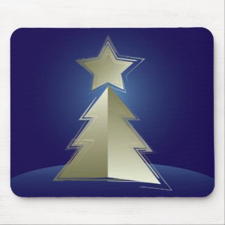 Golden Christmas tree Mouse Pad