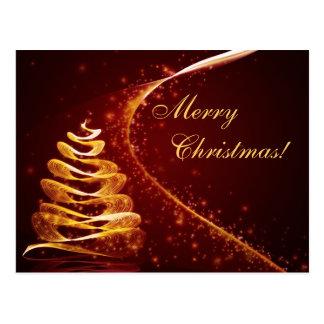 Golden Christmas Tree Postcard