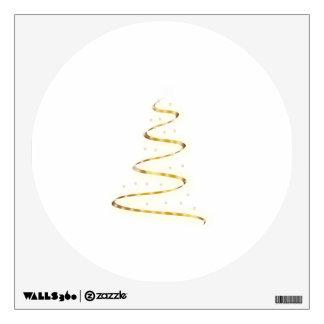 Golden Christmas Tree Room Stickers