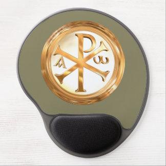 Golden Christogram Gel Mouse Pad