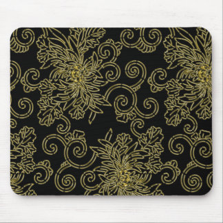 Golden chrysanthemum mouse pad