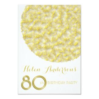 Golden Circle 80th Birthday Party Invitation
