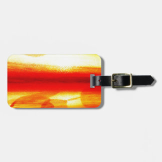 Golden Circle Abstract Radial Design Lavish Style Luggage Tag
