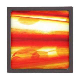 Golden Circle Abstract Radial Design Lavish Style Premium Keepsake Boxes
