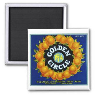 Golden Circle Oranges Refrigerator Magnets