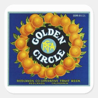 Golden Circle Oranges Square Sticker