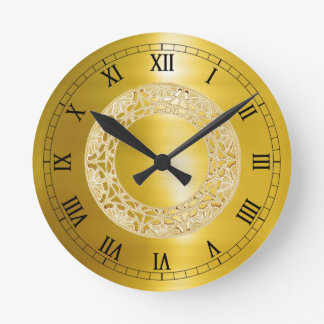 Golden Circle Round Clock