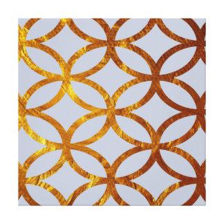 Golden Circles Elegant Pattern Canvas Print