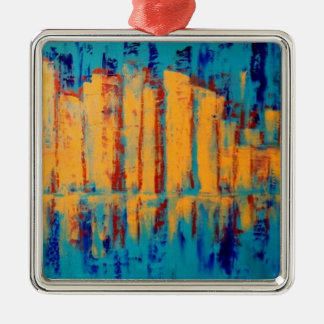 """Golden City"" by Linda Powell~Griginal Ornament"