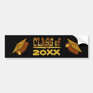 Golden Class of Year Grads Hat Bumper Sticker
