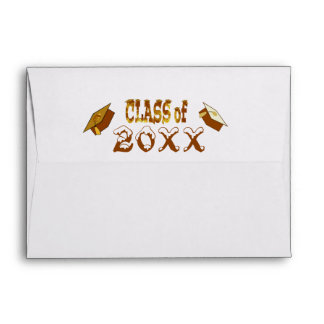 Golden Class of Year Graduation Hat Envelope