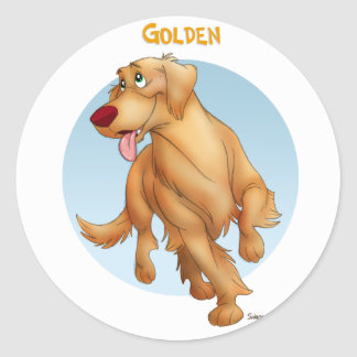 Golden Classic Round Sticker