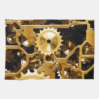 Golden clock mechanism towel