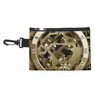 Golden Clocks and Gears Steampunk Mechanical Gifts Accessory Bag