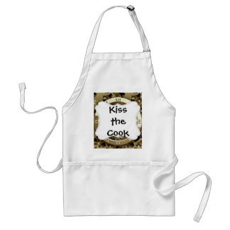 Golden Clocks and Gears Steampunk Mechanical Gifts Adult Apron