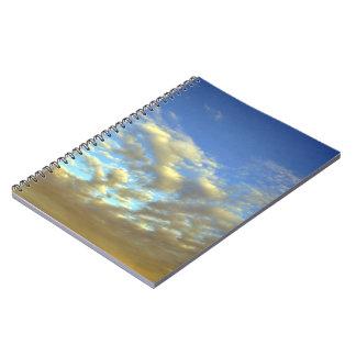 Golden Cloud Layer And Blue Sky Spiral Notebooks