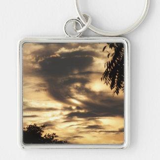 Golden Clouded Sunrise Keychain