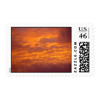 Golden Clouds In The Sunset Postage